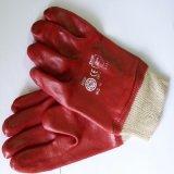 Перчатки красной резины Coated от поставщика Гуанчжоу