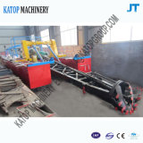 100 Cbm Sand-Bergbau-Lastkahn-Sand-ausbaggernder Lastkahn