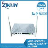 4ge+2tel+WiFi+USB+CATV Gpon ONU Zc-521gwt para Zte F668 Huawei Hg8247h