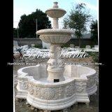 Fontaine blanche de travertin pour la décoration à la maison Mf-1010