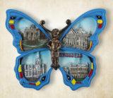 Magneet van de Koelkast van de Vlinder van de Herinnering van de Toerist van de Douane van Polyresin de Dierlijke