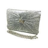 2017新しいデザイン、鎖を持つ銀製の女性Eveingbag、