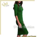 Платья женщины хлопка высокого качества Linen