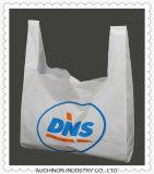 Sac de transporteur réutilisable respectueux de l'environnement de gilet de sac de singulet de sac de T-shirt de HDPE