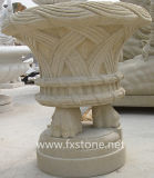 Pote de flor de piedra para el ornamento del jardín