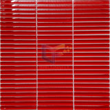 Mattonelle di mosaico di cristallo rosse delle mattonelle della striscia (PT110)