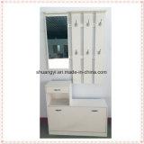 Hallway Entryway Miroir en bois Hall Shoe Cabinet with Coat Rack