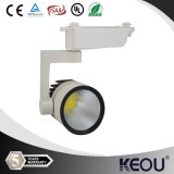 Schwarzes White Housing 230V 20W Dimmable COB LED Track Light