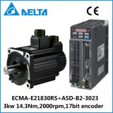 델타 B2 3.0kw 17bit 인코더 AC 자동 귀환 제어 장치 모터와 운전사