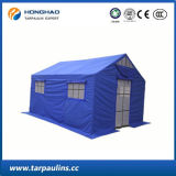 Tente de secours revêtue de PVC résistant au feu à l'eau et étanche à l'extérieur