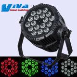 Etanche 18X10W RGBW 4 à 1 LED Lampe à LED de lumière par l'étape