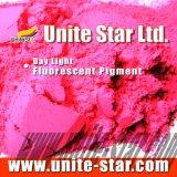 Rojo fluorescente ligero del pie del pigmento del día para las tintas