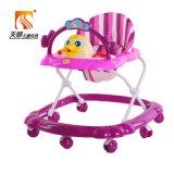 かわいい動物が付いている高品質の赤ん坊の歩行者の赤ん坊のおもちゃ車