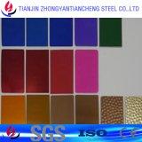 De kleur bedekte het Gouden Blad van het Aluminium met pvc in Aluminium 5052 met een laag