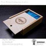 Hongdao Venta al por mayor de alta calidad de color natural de deslizamiento de tapa de madera caja de regalo Trinket Boxes _E
