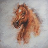 Pintura al Óleo de la cabeza de caballo