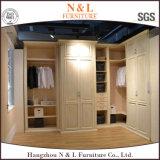 N&L 2017 현대 호화스러운 나무로 되는 침실 옷장 디자인