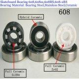 Cuscinetto a sfere profondo della scanalatura del cuscinetto a sfere ABEC9 608 di ceramica per Sakteboard (608z 608zz 6082RS 608-2RS 6082z)