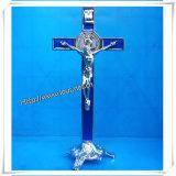 De Tegenhangers van het kruisbeeld, Houten Kruisbeeld, St Benedict Crucifix, de Charmes van het Kruisbeeld, Rozentuin, Godsdienstig Kruis (iO-Ca00000)