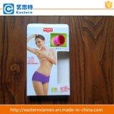 Caixa de papel de janela de PVC para roupa interior