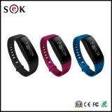 Bracelet sec de traqueur de forme physique de pression sanguine de bracelet de bracelets du Pedometer V07