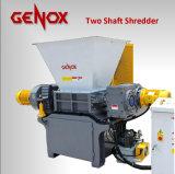 Alta eficiencia de los neumáticos/Metal/plástico o madera, dos de doble eje Shredder
