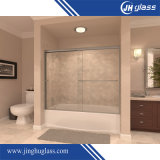 El mejor precio sin cerco puerta deslizante de ducha de vidrio para el cuarto de baño