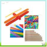 子供のクラフトの供給のための114mm DIYの子供の木製の棒、クラフトの棒、アイスキャンデーの棒およびロリポップの棒