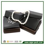 Cadre de bijou en bois de noir lustré élevé de fini
