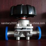 Válvula de membrana de acero inoxidable sanitario con la junta de doble capa