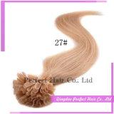 Het blonde Haar van de Keratine van de Uitbreiding van het Menselijke Haar van het Uiteinde van 100 Keratine Ruwe