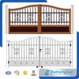 錬鉄のドアのデザイン/粉は機密保護によって電流を通された鋼鉄ゲートに塗った