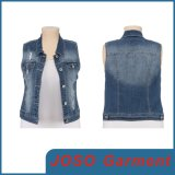 Mesdames fashion Denim de gilets (JC4016)
