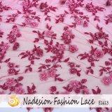 Tessuto splendido del merletto della sposa del ricamo del tessuto del merletto 3D/ricamo Handmade, prezzo di fabbrica