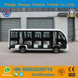 Zhongyi 고품질로 도로 배터리 전원을 사용하는 고전적인 셔틀 동봉하는 전기 관광 차 떨어져 둘러싸이는 14 시트 백색