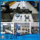 Rolo do papel higiénico que rebobina e equipamento do converso do papel de tecido da máquina de perfuração