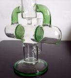 O cachimbo de água de fumo de vidro surpreendente o mais atrasado das tubulações de água para o tabaco