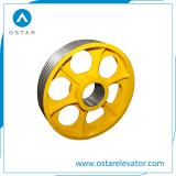 piezas de repuesto de elevación de la polea de tracción del deflector de elevador polea (OS13).