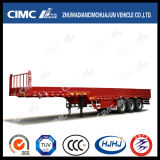 Cimc Huajun 3axle Gooseneck Fence/Cargo Semi Trailer con Side Wall
