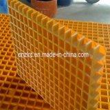 Grillage FRP Feuille de maillage en fibre de verre jaune pour la lavage de voiture