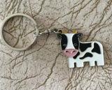 Mucca quotidiana Keychain