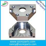 工学および構築、CNCのための機械コンポーネントは金属部分を機械で造った