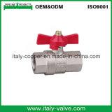 Le type italien laiton a modifié le robinet à tournant sphérique de guindineau pour le gaz (AV1048)