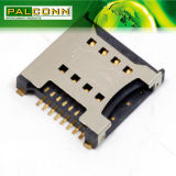 Smartphones와 정제/GPS/MP4/MP5/Automobile 자료 레코더를 위한 SIM 카드 6pin