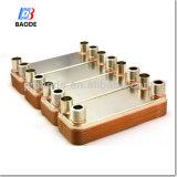 Alto acero inoxidable cubierto con bronce Coper AISI 316 (BL20) del cambiador de calor de la placa de la eficacia de la transferencia