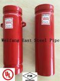 赤い塗られた鋼管