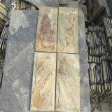 Rivestimento arrugginito naturale della parete esterna della pietra della coltura dell'ardesia