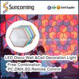 벽 천장을%s 최고 장식적인 LED 3D 비전 배경막 위원회