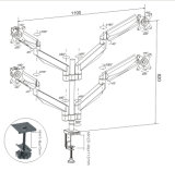 Gasheber-Tischplattenmontierung (LCD 3004)