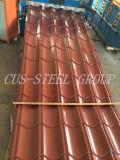 Telhas de aço coloridas folhas/ Prepainted de alta qualidade folha metálica do telhado